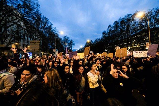 Manifestació del 8-M (Dia Internacional de la Dona), Madrid (Espanya), 8 de març del 2020