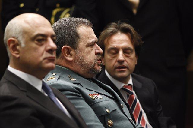 El econonomista Enrique Barón y el general brigada Pablo Salas