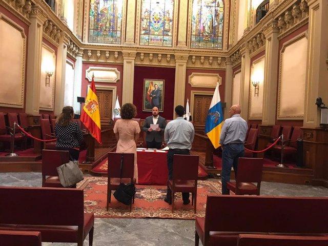 Celebración de una boda en el Ayuntamiento de Santa Cruz de Tenerife