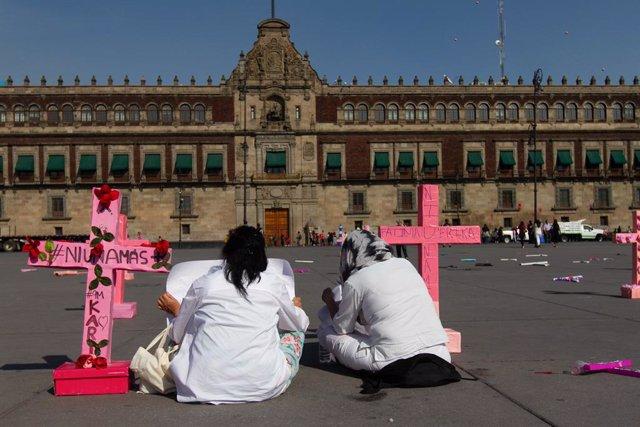 Protesta de dones a Ciutat de Mèxic