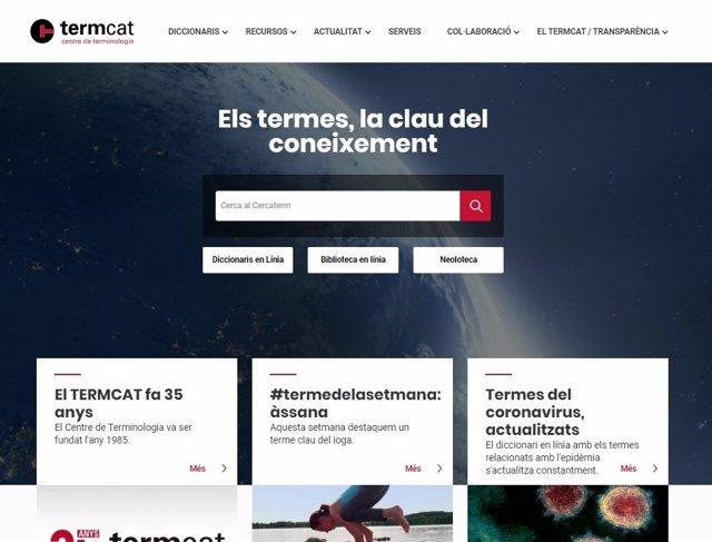 Portal web del centre de terminologia Termcat