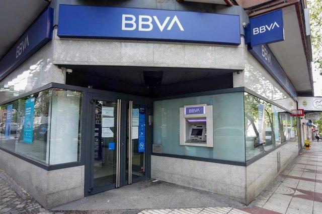 Un cajero del Banco BBVA.