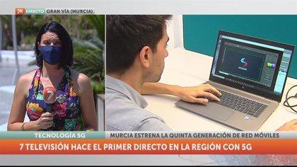 La7 realiza la primera conexión en directo con 5G de la Región de Murcia