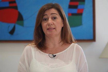 """Armengol recuerda su """"compromiso con la ciudadanía"""" en el aniversario de las elecciones del 26 de mayo"""