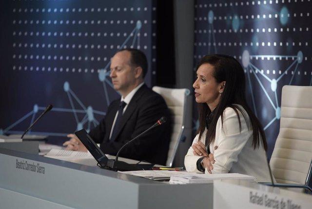 La presidenta de Red Eléctrica de España, Beatriz Corredor, en la junta general de 2020