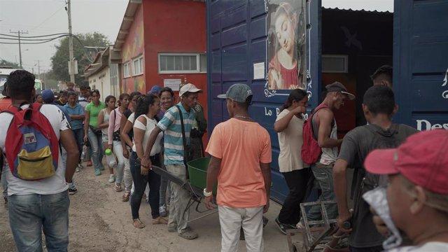Migrantes venezolanos en la ciudad colombiana de Cúcuta.