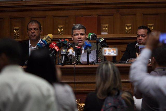 El presidente de la Asamblea Nacional de Venezuela, Luis Parra.