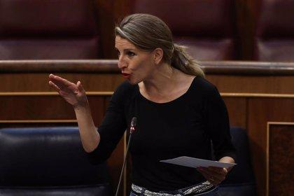 Yolanda Díaz defiende hoy en el Congreso la ampliación de los ERTE por el Covid-19 hasta el 30 de junio