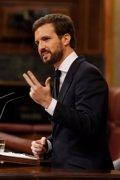 """Casado carga contra Sánchez y pide el cese de Marlaska: """"Desde Roldán nadie había manchado así a la Guardia Civil"""""""