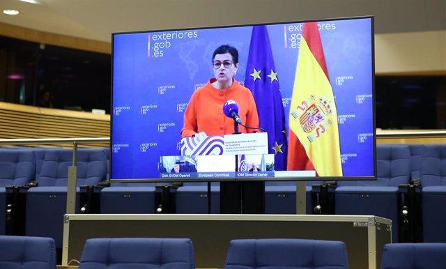 Arancha González Laya en la Conferencia de Donantes para Venezuela
