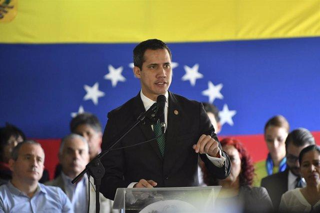 """El autoproclamado """"presidente encargado"""" de Venezuela, Juan Guaidó"""