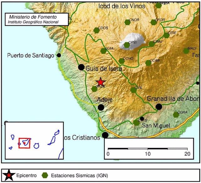 Terremotos registrados por el IGN