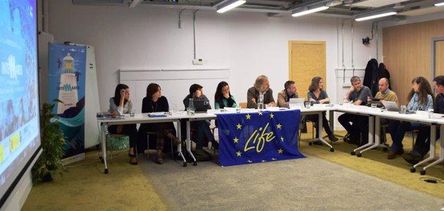 Delegación de la Comisión Europea conoce el proyecto Life IP INTERMARES