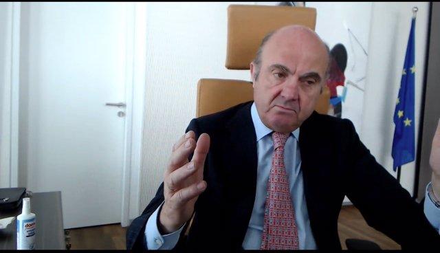UE.- Guindos (BCE) aboga por poner coto a las ayudas de Estado y por apostar por