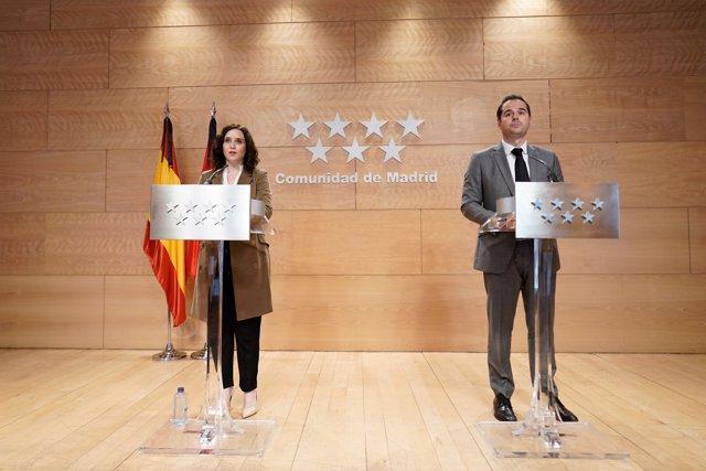Rueda de prensa tras el Consejo de Gobierno de la Comunidad de Madrid
