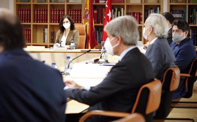 Díaz Ayudo preside la reunión del Consejo de Gobierno de la Comunidad de Madrid