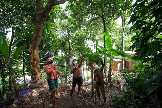 Indígenas de la Amazonía brasileña