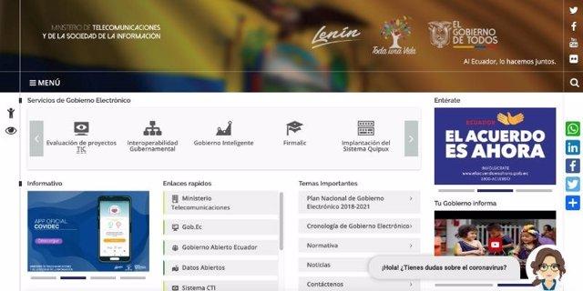 El chatbot 'Carina' o 'Catalina' en una pgina web.