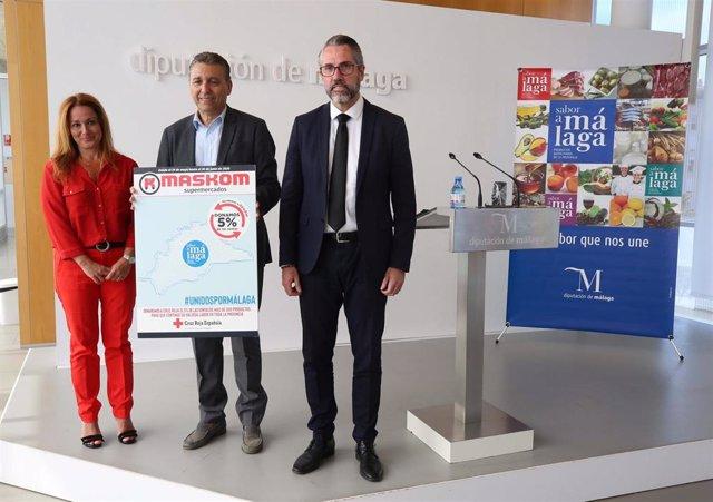 Campaña solidaria de la Diputación de Málaga, a través de Sabor a Málaga; Maskom y Cruz Roja Española