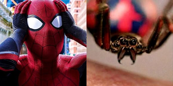 7. Tres niños provocan que les muerda una Viuda Negra para ser como Spider-Man