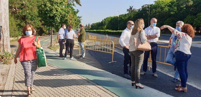 Visita a las obras de la avenida de Jerez