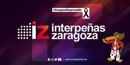Zaragoza.- Interpeñas se suma a los diez días de luto con un lazo negro en su logotipo
