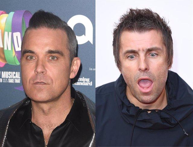 Robbie Williams y Liam Gallagher