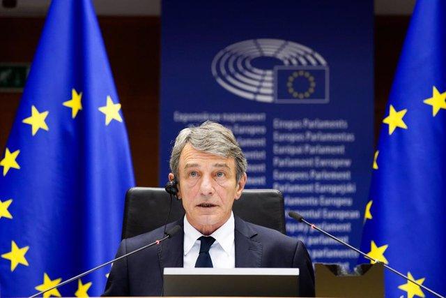 UE.- Sassoli pide celeridad a los líderes y que no rebajen la propuesta presupue