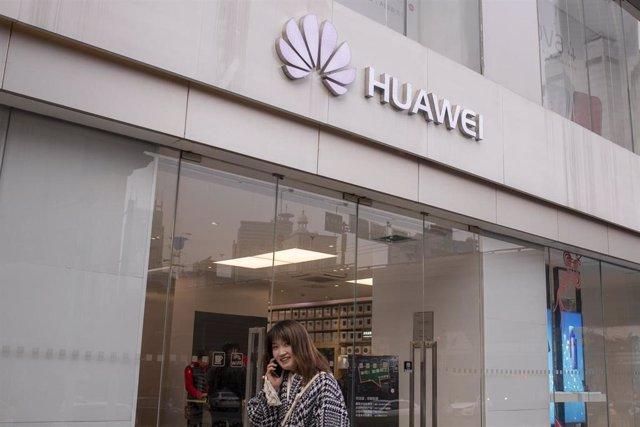 Imagen de archivo de una tienda de Huawei.