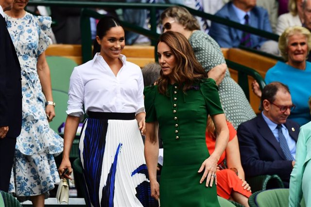 Catherine, Duchess Of Cambridge And Meghan, Duchess Of Sussex Attend The Royal Box