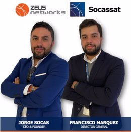 Jorge Socas, CEO del Grupo Socassat y Francisco Marquez, Director General
