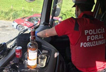 Inmovilizados tres camiones en la N-121-A por positivo en drogas y alcohol