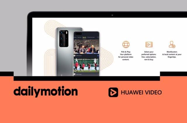 Huawei se alía con Dailymotion para la provisión de contenidos de vídeo