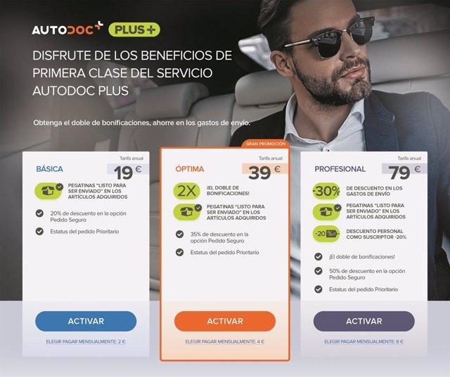 COMUNICADO: Autodoc lanza un programa de condiciones especiales para clientes ha