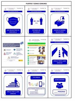 Cartel sobre protocolo de medidas preventivas adaptadas al ámbito educativo en la fase 2 de desescalada en Extremadura