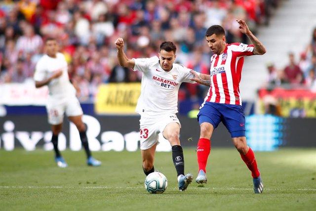 Fútbol.- El delantero argentino Ángel Correa sufre una lesión muscular en la pie