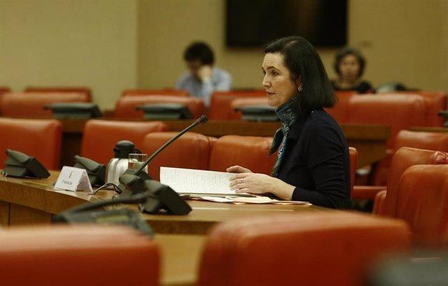 Nuria Díaz Abad, jurista del CGPJ, en el Congreso
