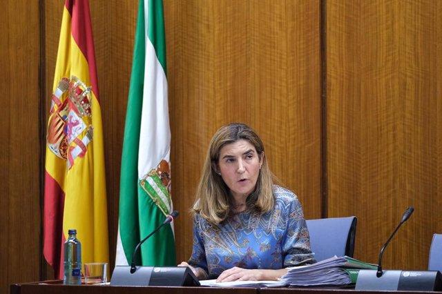 La consejera de Empleo, Formación y Trabajo Autónomo de la Junta de Andalucía, Rocío Blanco