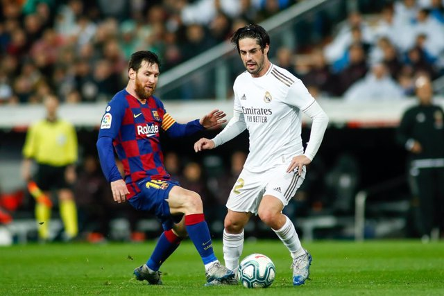 Messi i Isco en l'últim Barça-Madrid