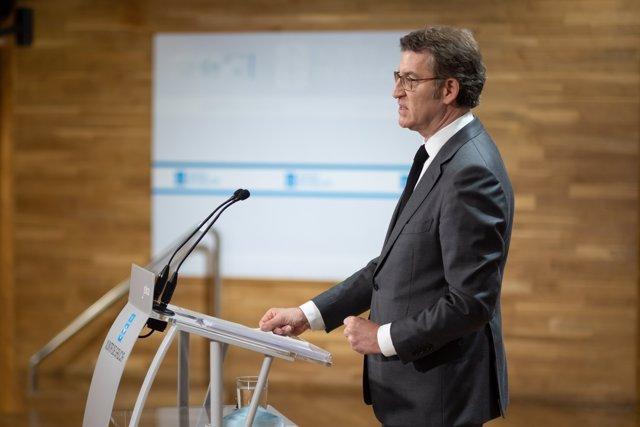 El presidente gallego, Alberto Núñez Feijóo