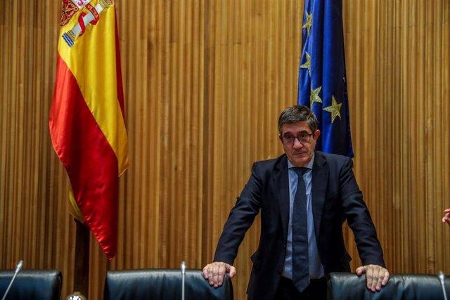 El presidente de la Comisión para la Reconstrucción, Patxi López