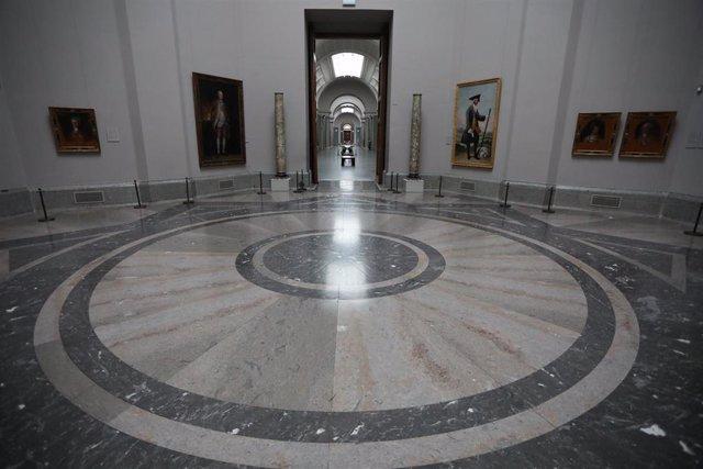 Sala con pinturas de Goya en el Museo Nacional del Prado, vacía por el cierre temporal del Museo por la pandemia del Covid-19