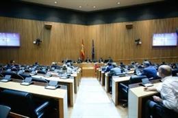 Imagen de una comparecencia en una comisión del Congreso