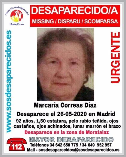 Desaparece una mujer de 92 años cuando volvía de la peluquería en Moratalaz