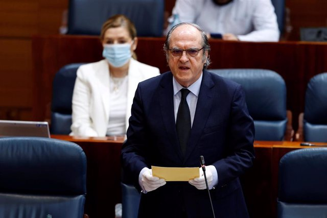El portavoz del grupo socialista, Ángel Gabilondo, en el pleno de la Asamblea de Madrid. Archivo.