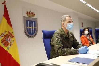 Rey Felipe.- El Rey mantendrá el sábado una videoconferencia con militares con motivo del Día de las Fuerzas Armadas