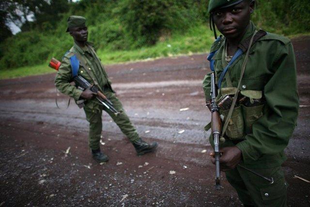 Soldados en República Democrática del Congo