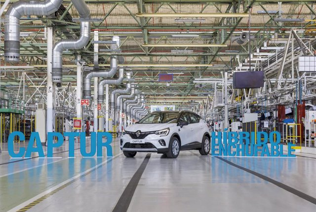 Inicio de la producción del Renault Captur híbrido enchufable en Valladolid.