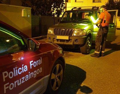 Policía Foral inmoviliza dos vehículos cuyos conductores dan positivo en drogas