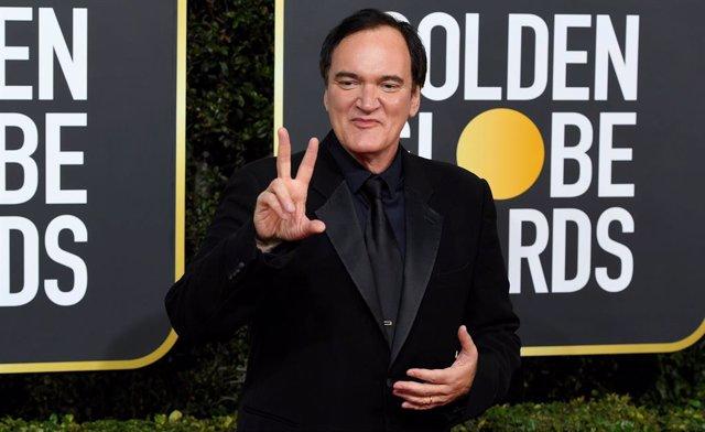 Quentin Tarantino en la ceremonia de entrega de los Globos de Oro